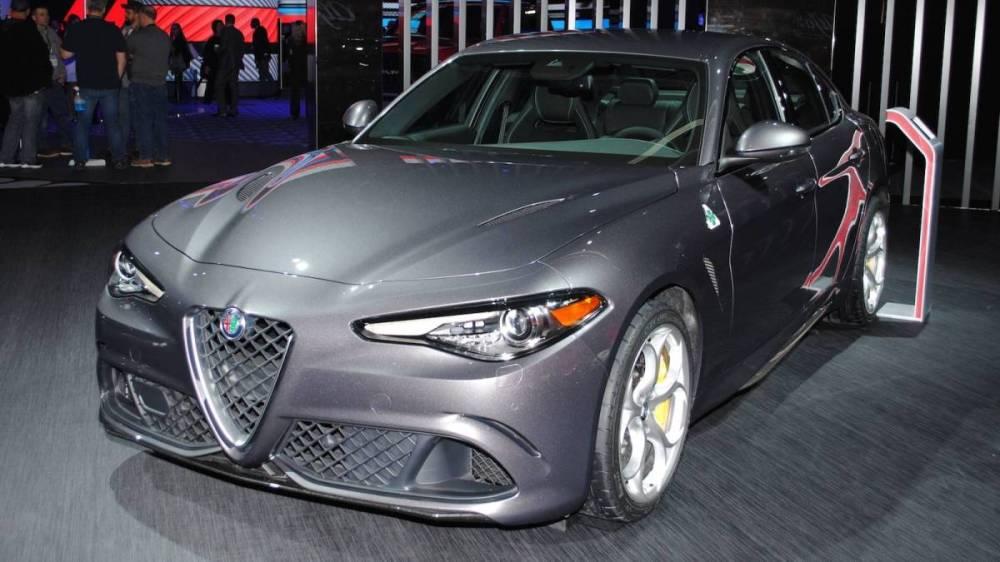 Alfa Giulia QV en el salón de Detroit. Foto. Auto Bild