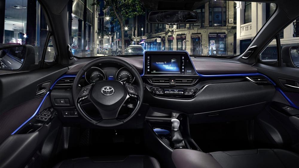 Interior del Toyota C-HR. Foto: Toyota