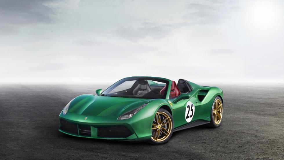 Ferrari 488 Spyder Green Jewel en homenaje al piloto David Piper y al color verde de sus bólidos