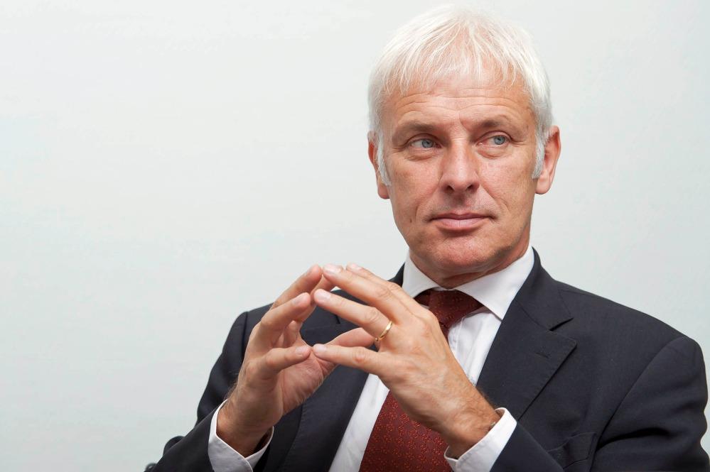 Matthias Mueller, CEO de Volkswagen. Foto: Bloomberg