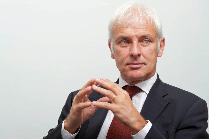 Matthias Mueller, CEO de Volskwagen. Foto: Bloomberg
