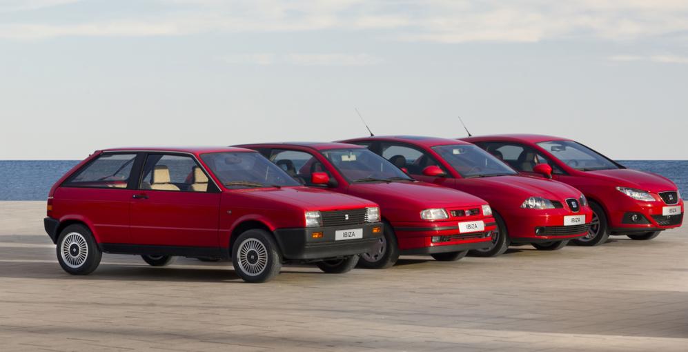 Las cuatro generaciones del SEAT Ibiza